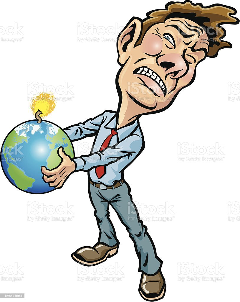Earth in Peril vector art illustration