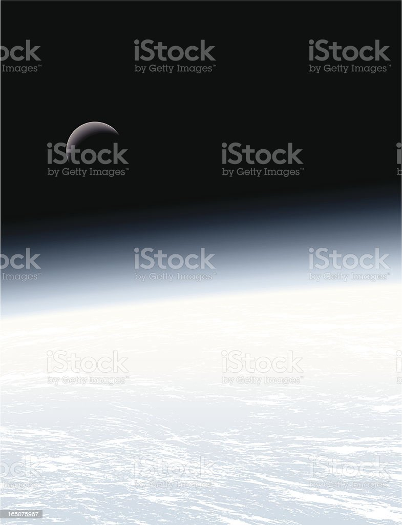 Earth & Moon royalty-free stock vector art