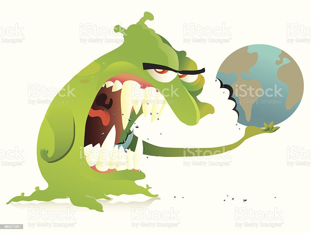 Earth nightmare royalty-free stock vector art