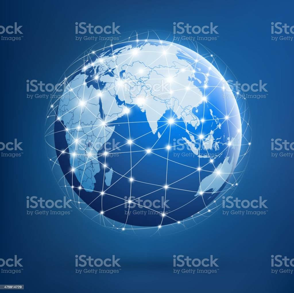 Earth of global networks royalty-free stock vector art