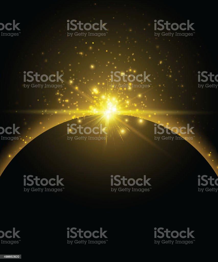 Earth planet background vector art illustration