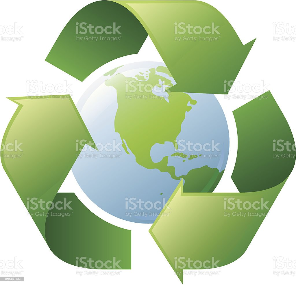 Earth recycling symbol royalty-free stock vector art