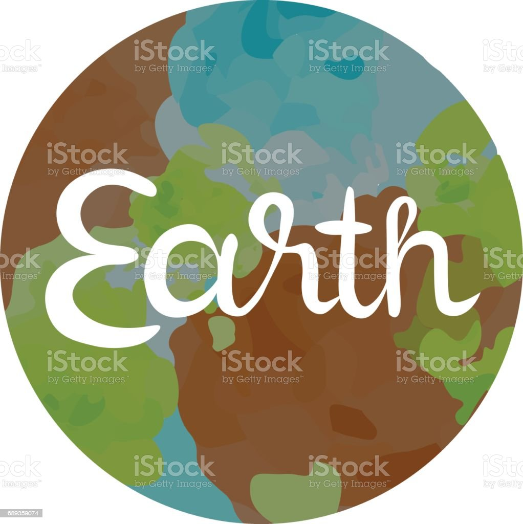 Earth Symbol of The Four Elements vector art illustration