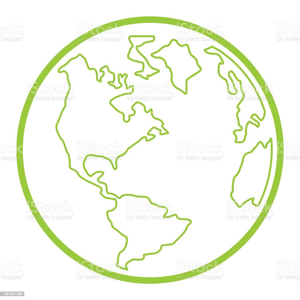 Earth Symbol vector art illustration