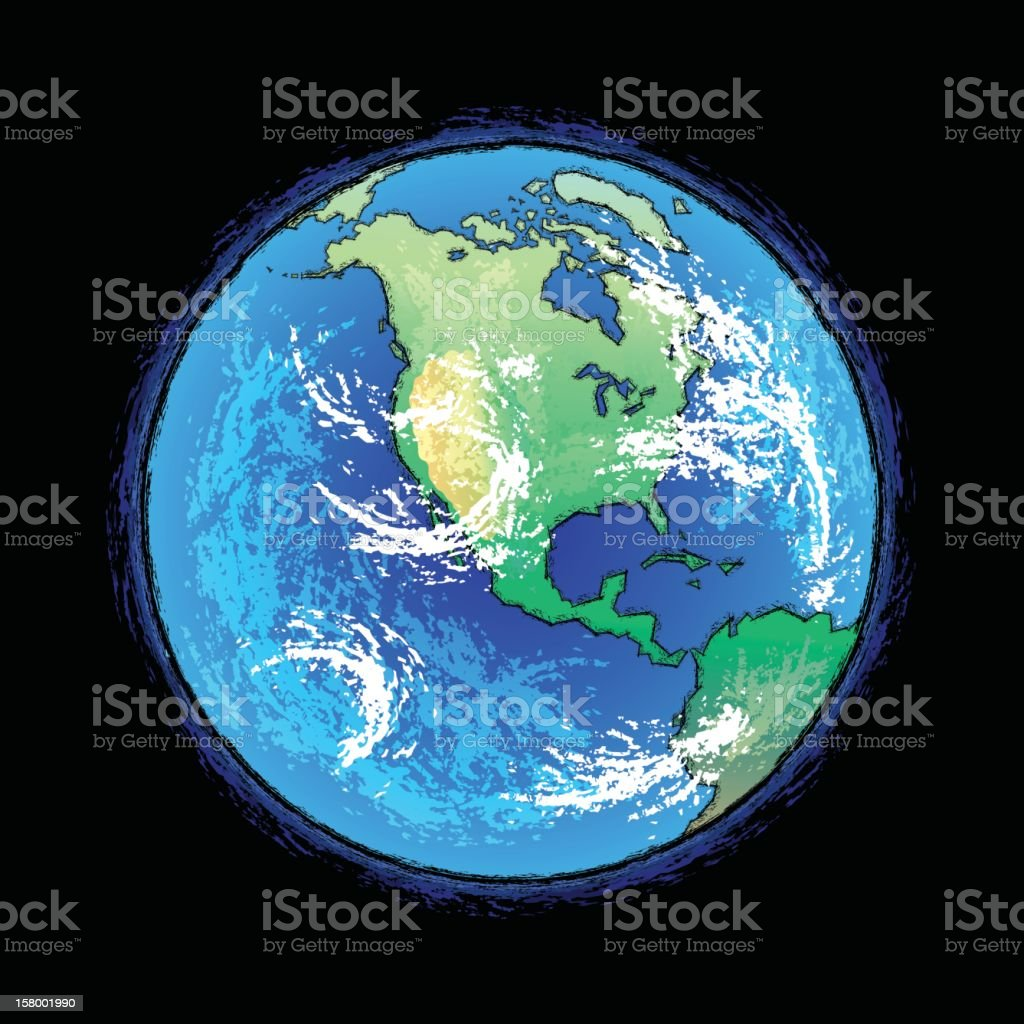 Earth vector art illustration