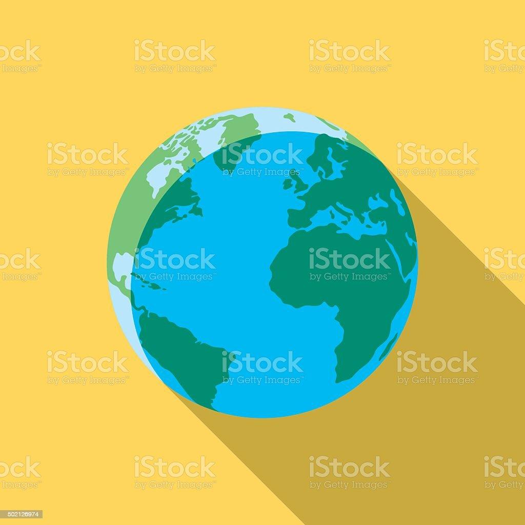 Earth vector art illustration