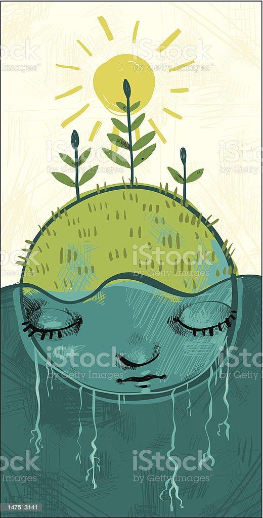 Earthchild royalty-free stock vector art