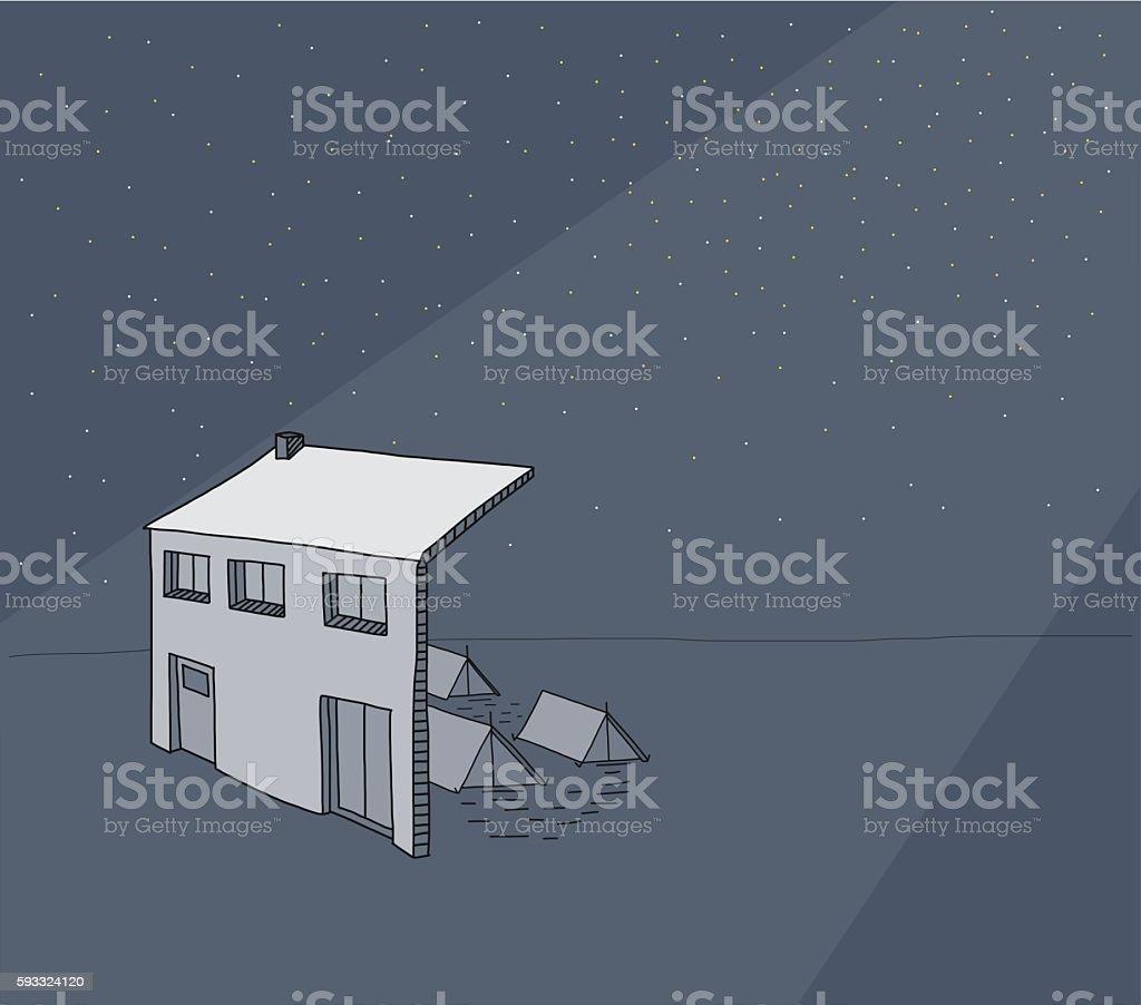 Earthquake Insurance - illustration vector art illustration