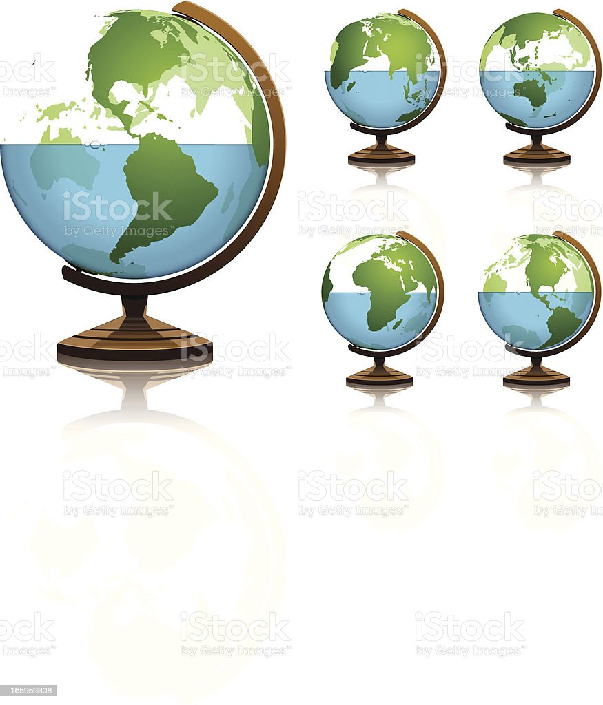 Earths water half full vector art illustration