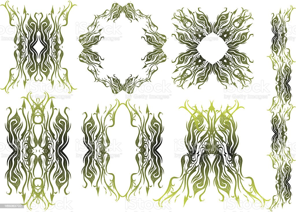 earthy forms royalty-free stock vector art