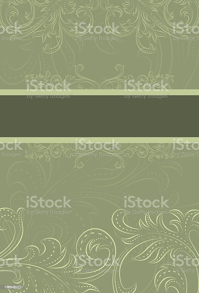 Earthy green scroll background royalty-free stock vector art