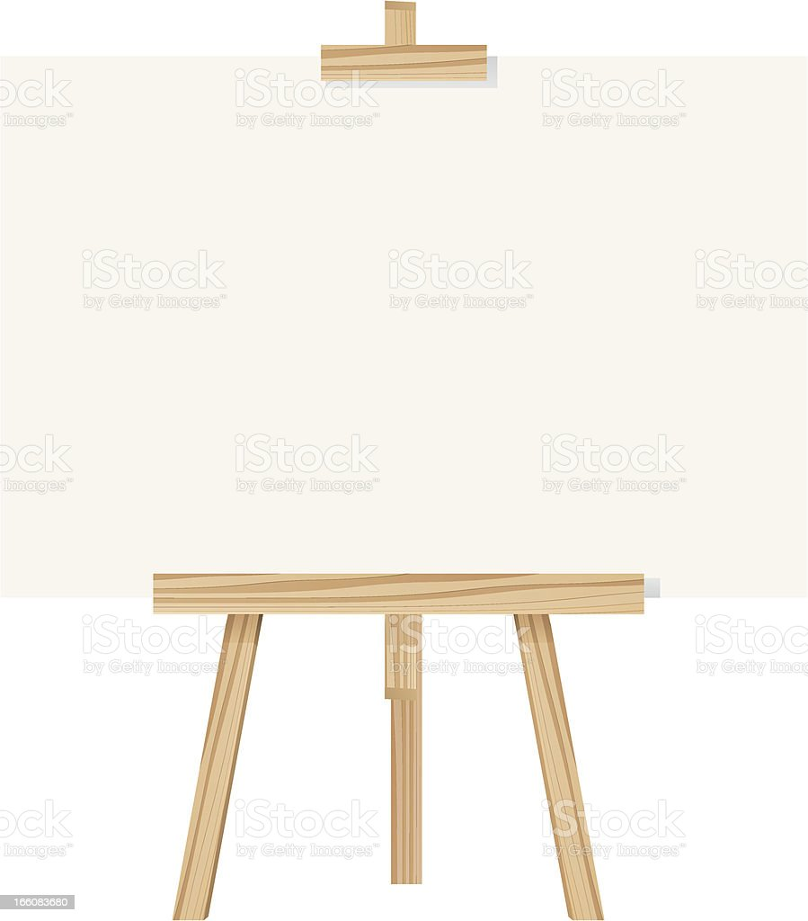 Easel royalty-free stock vector art