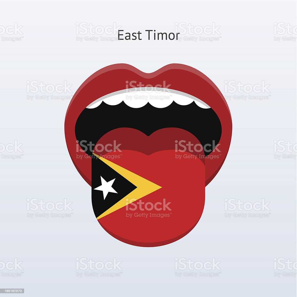 East Timor language. Abstract human tongue. royalty-free stock vector art