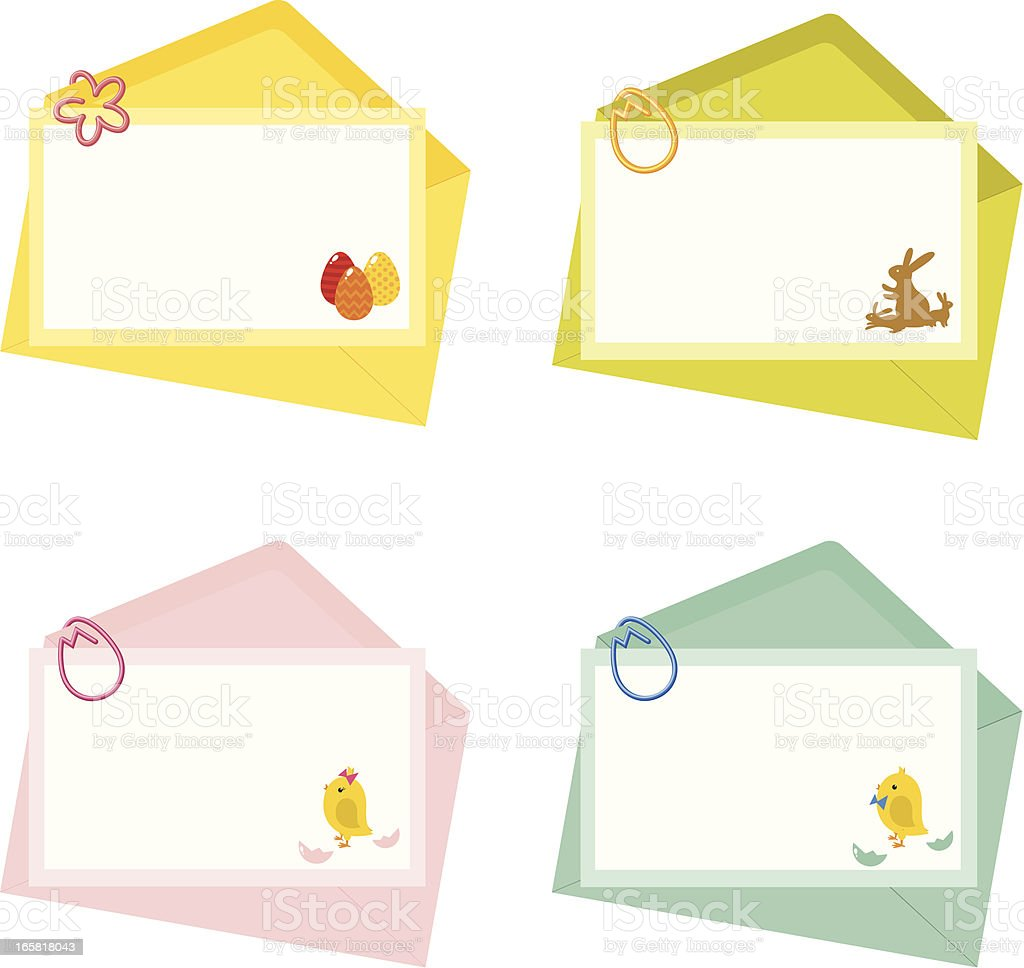 Easter and newborn letter with envelope royalty-free stock vector art