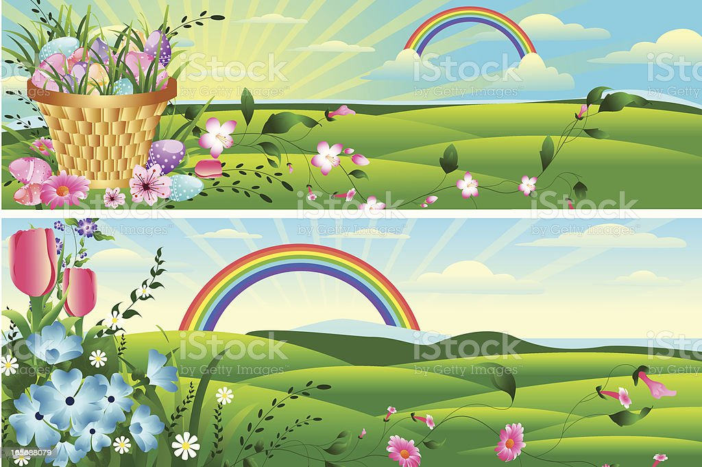 Easter and Spring Background. royalty-free stock vector art