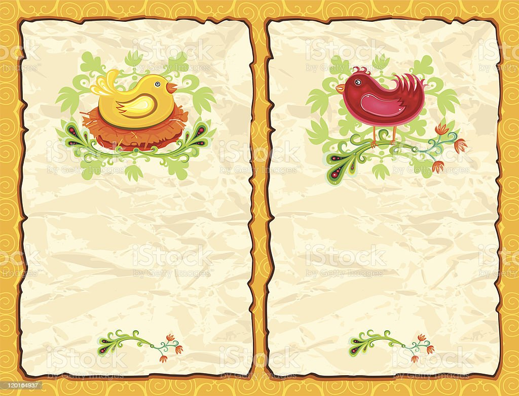Easter antique paper backgrounds royalty-free stock vector art