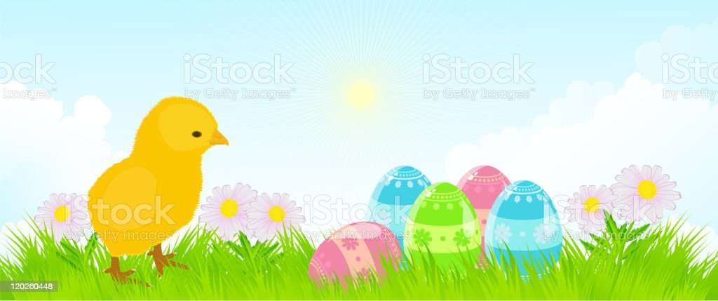 Easter background royalty-free stock vector art