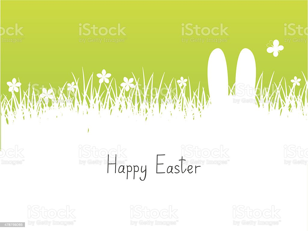 Easter background with place for text vector art illustration