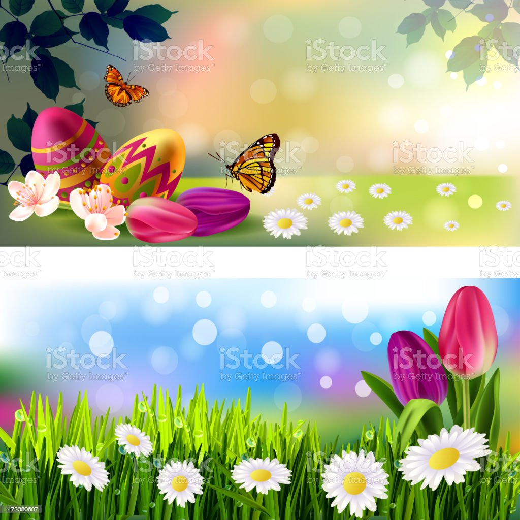 Easter Background/Banners royalty-free stock vector art