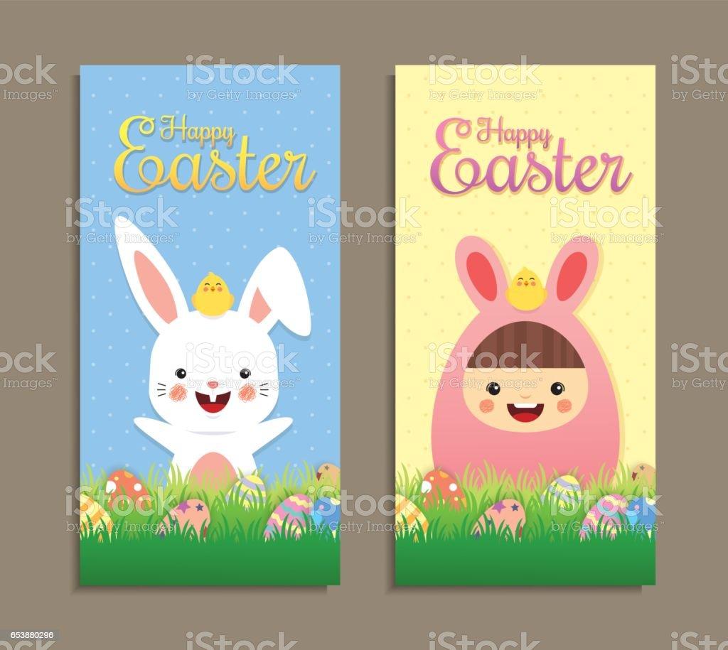 Easter banner vector art illustration
