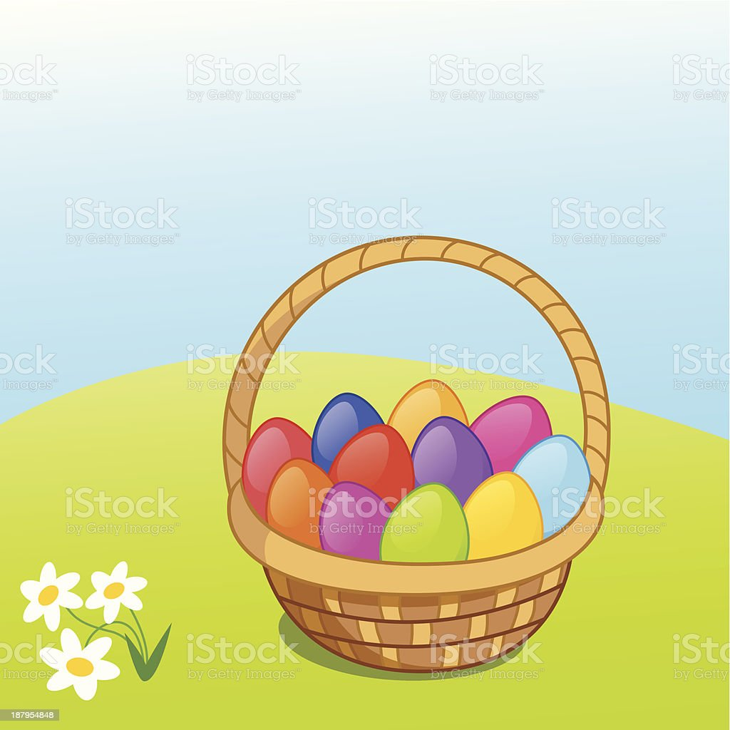 Easter Basket royalty-free stock vector art