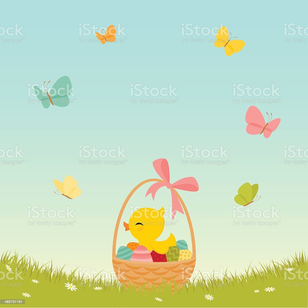 Easter basket royalty-free stock vector art