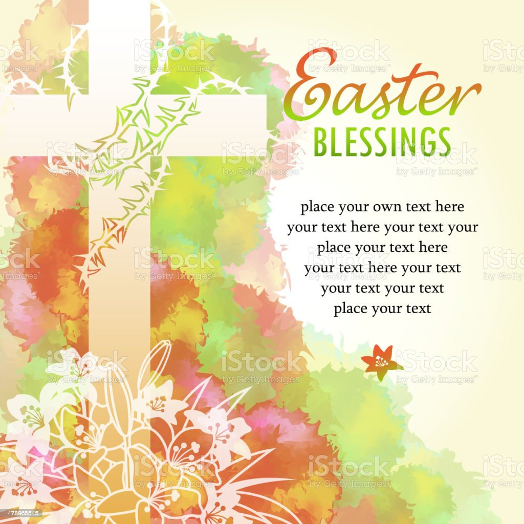 Easter Blessings vector art illustration
