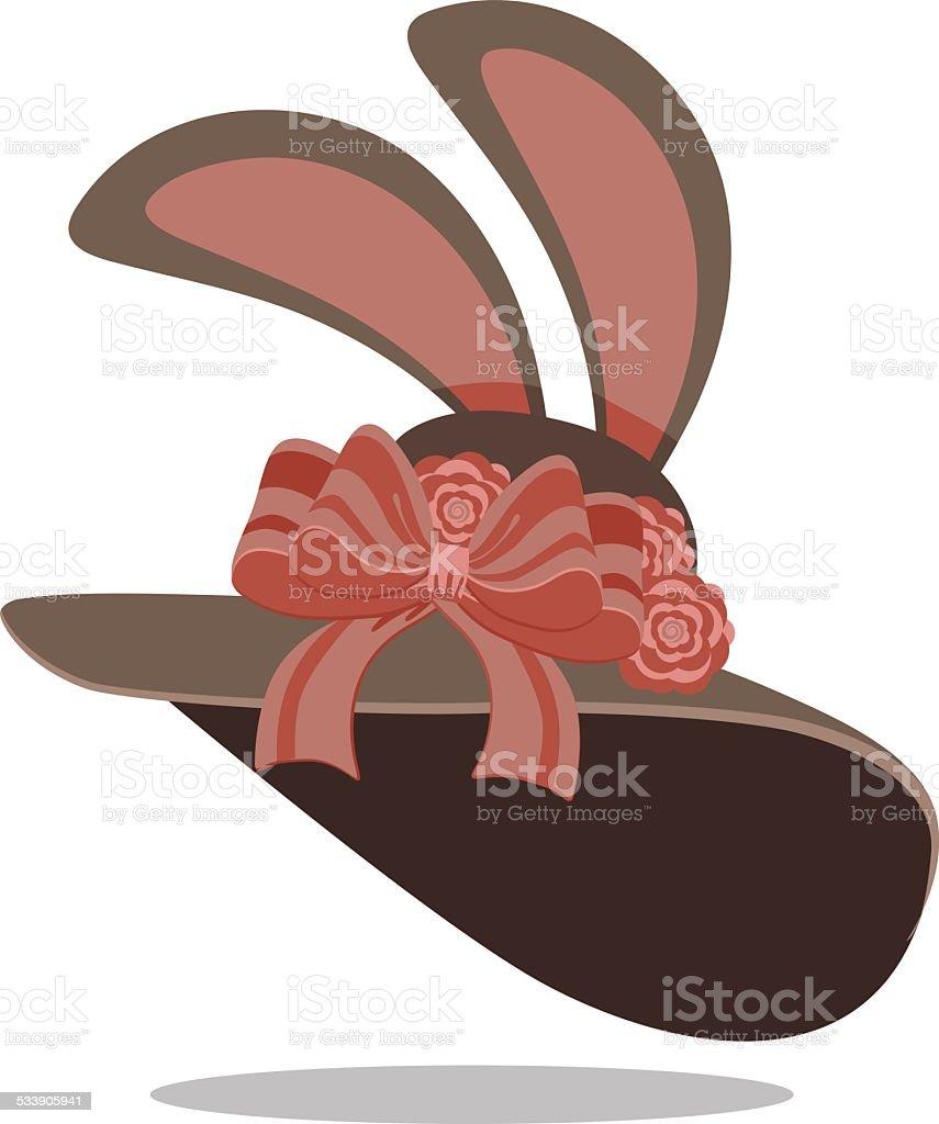 Easter bonnet vector art illustration