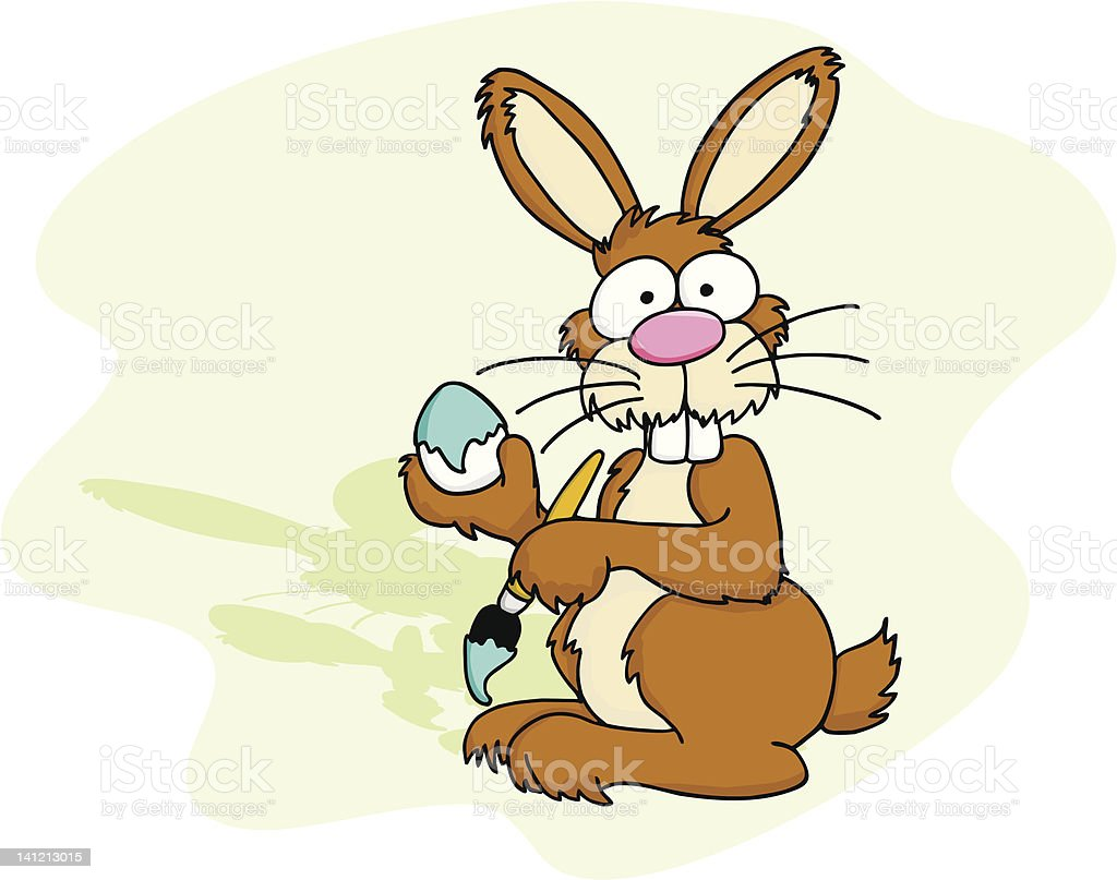 Easter Bunney with Egg 3 royalty-free stock vector art