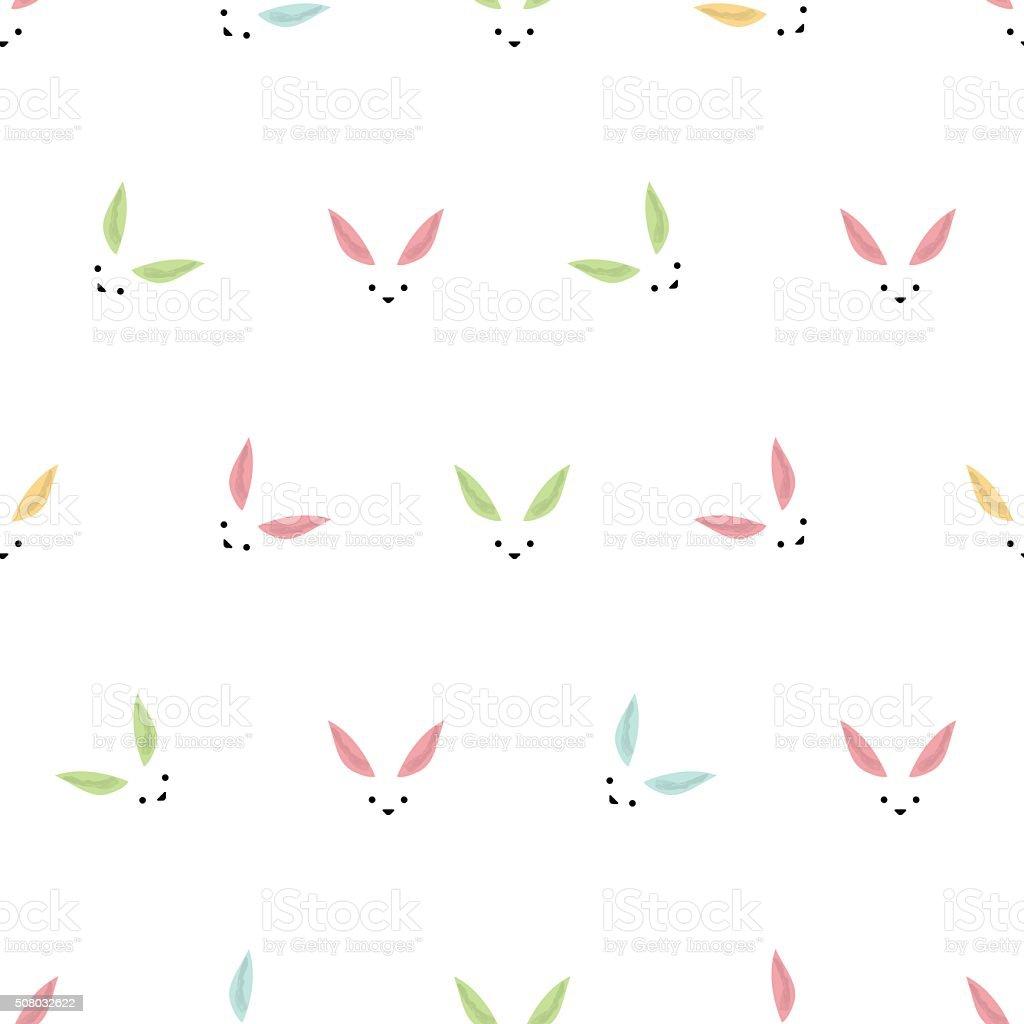 Easter bunny background vector art illustration