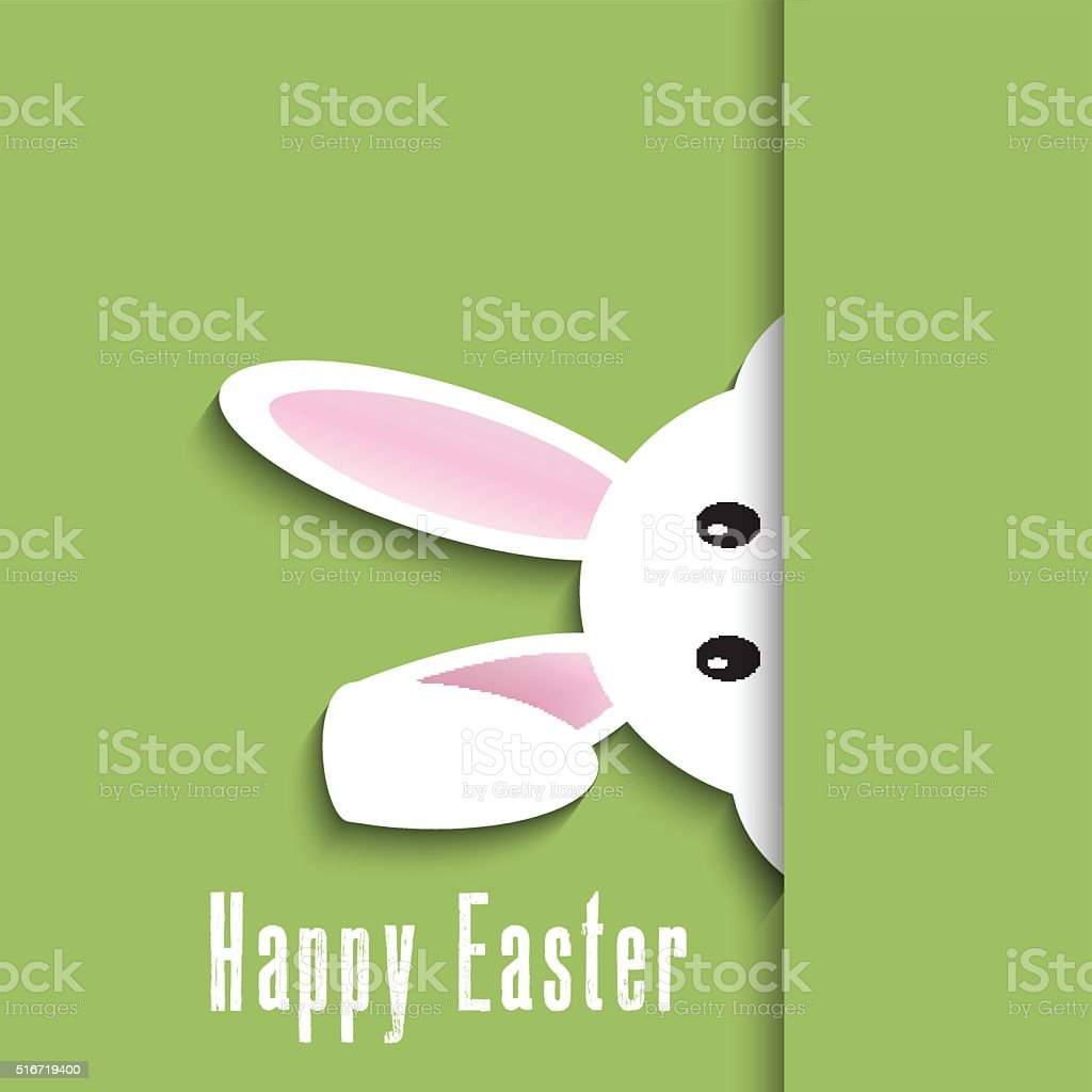 Easter bunny background vector art illustration