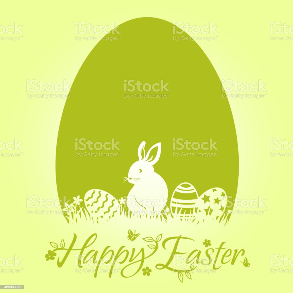Easter Bunny Egg Design Element vector art illustration