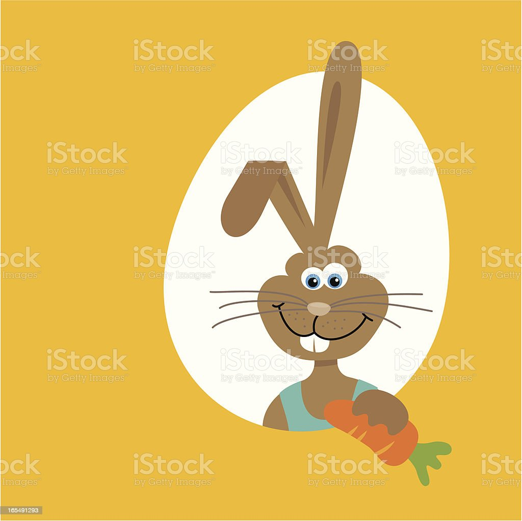 Easter bunny in egg royalty-free stock vector art