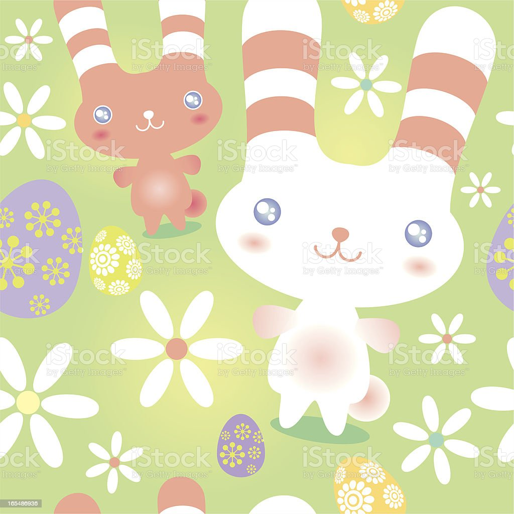 Easter Bunny Pattern royalty-free stock vector art