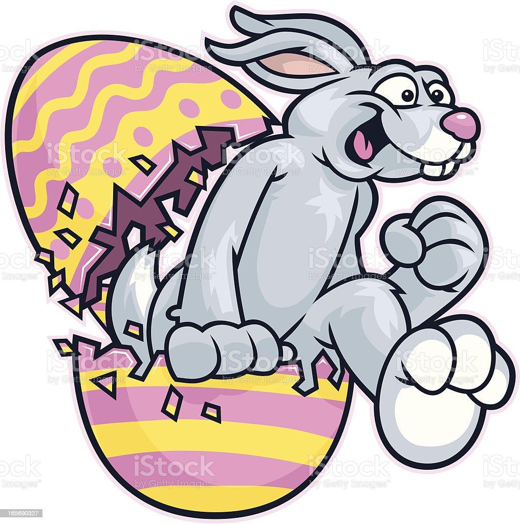Easter Bunny Run royalty-free stock vector art