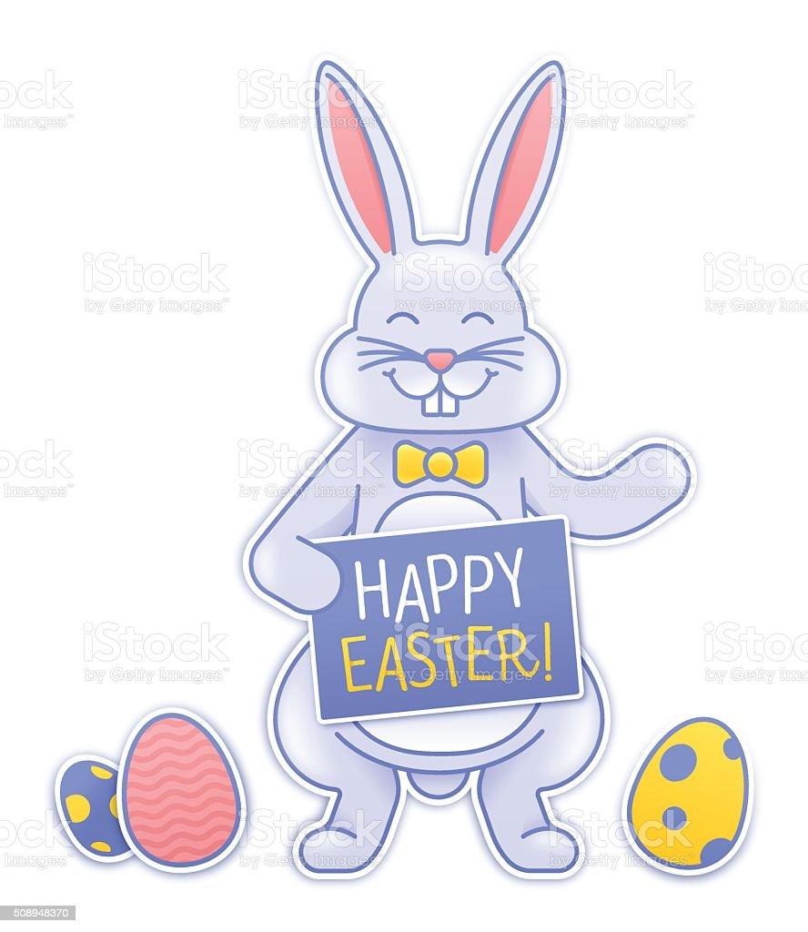 Easter Bunny vector art illustration