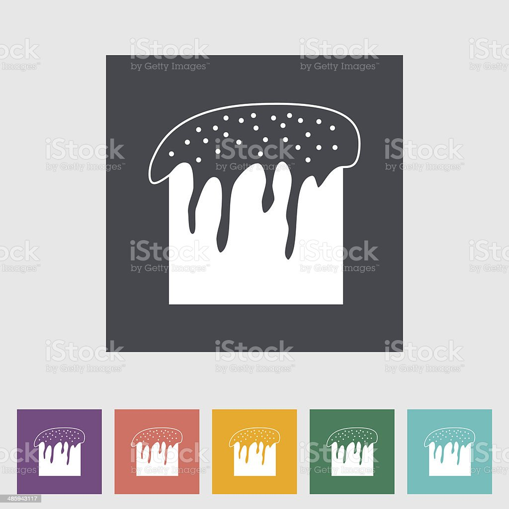 Easter cake single icon. royalty-free stock vector art