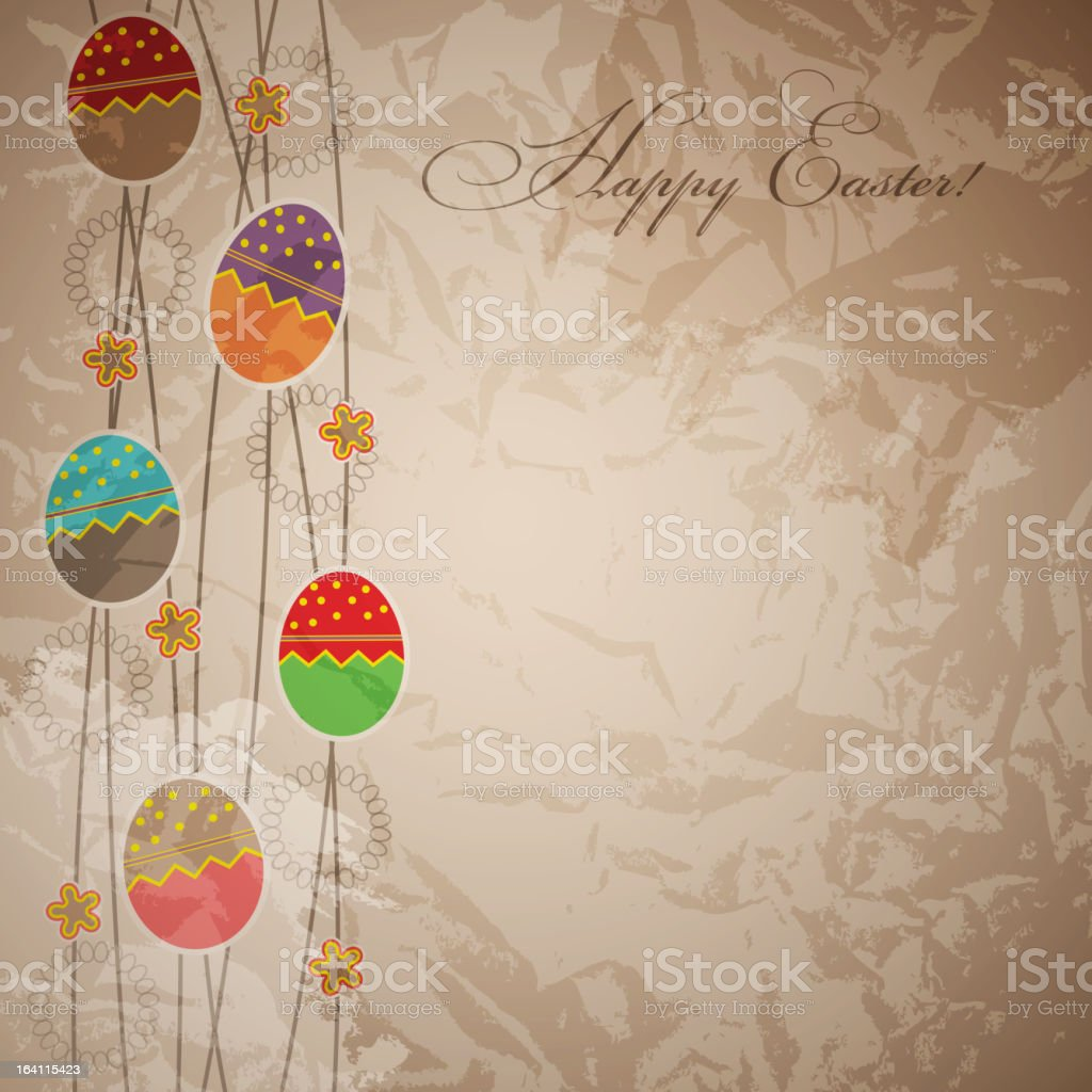 Easter card template vector illustration royalty-free stock vector art