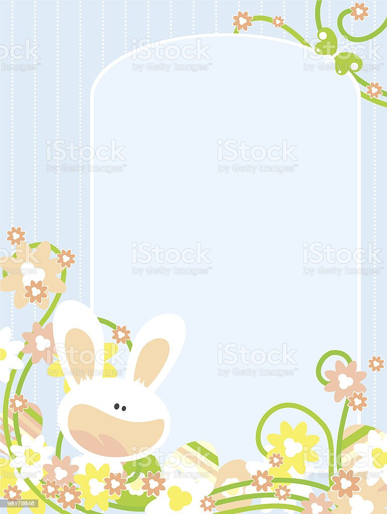 Easter card with bunny royalty-free stock vector art