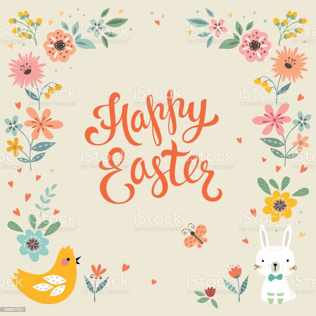 Easter Card_05 vector art illustration