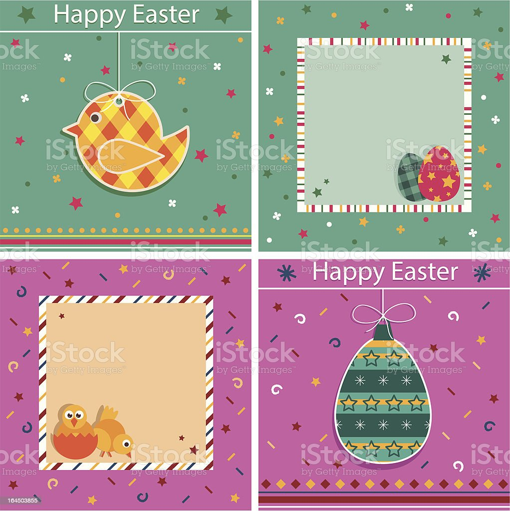 easter cards royalty-free stock vector art