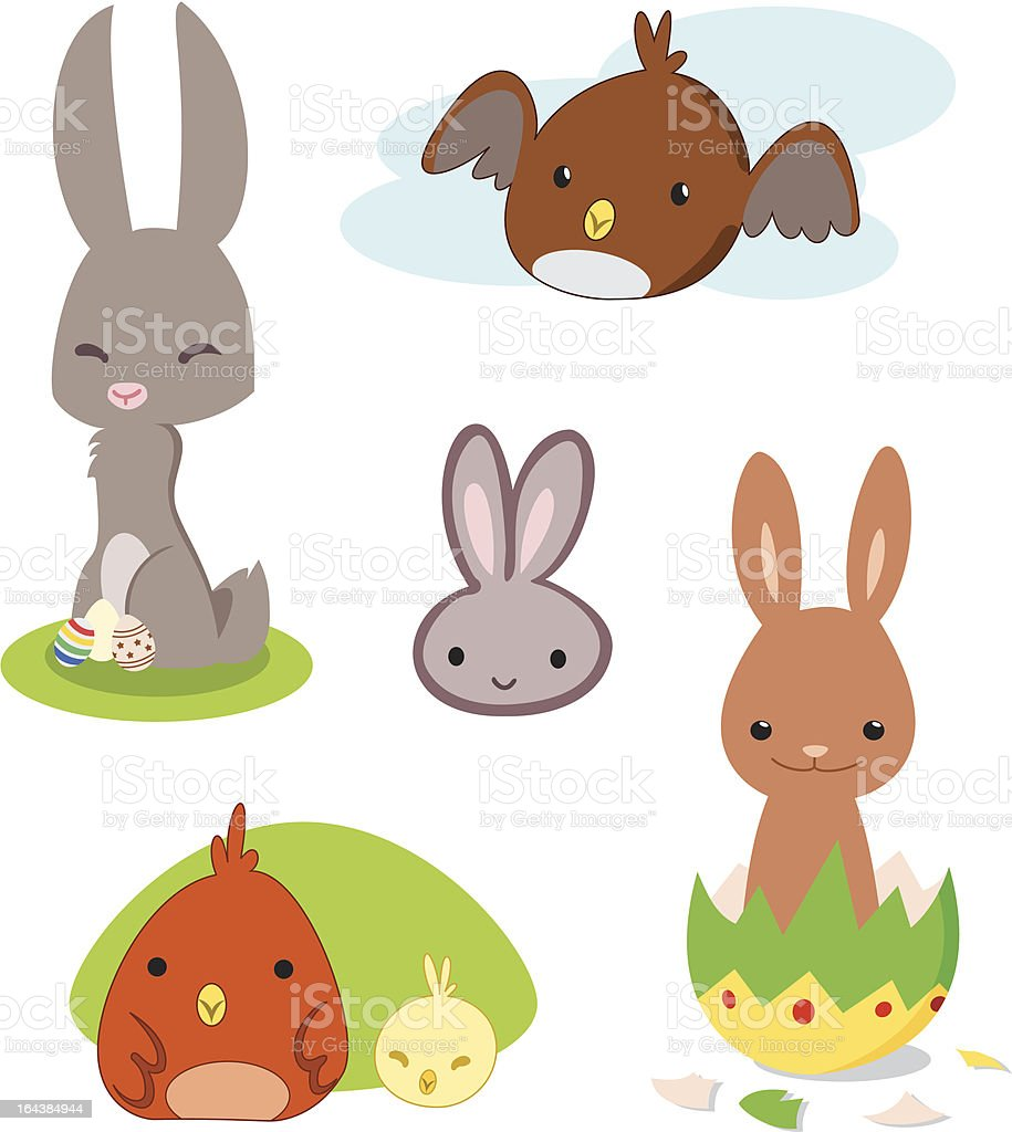 Easter cartoon pack royalty-free stock vector art