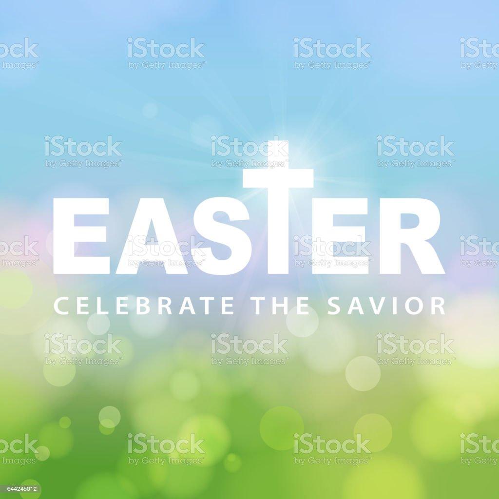 Easter Celebrate the Savior vector art illustration