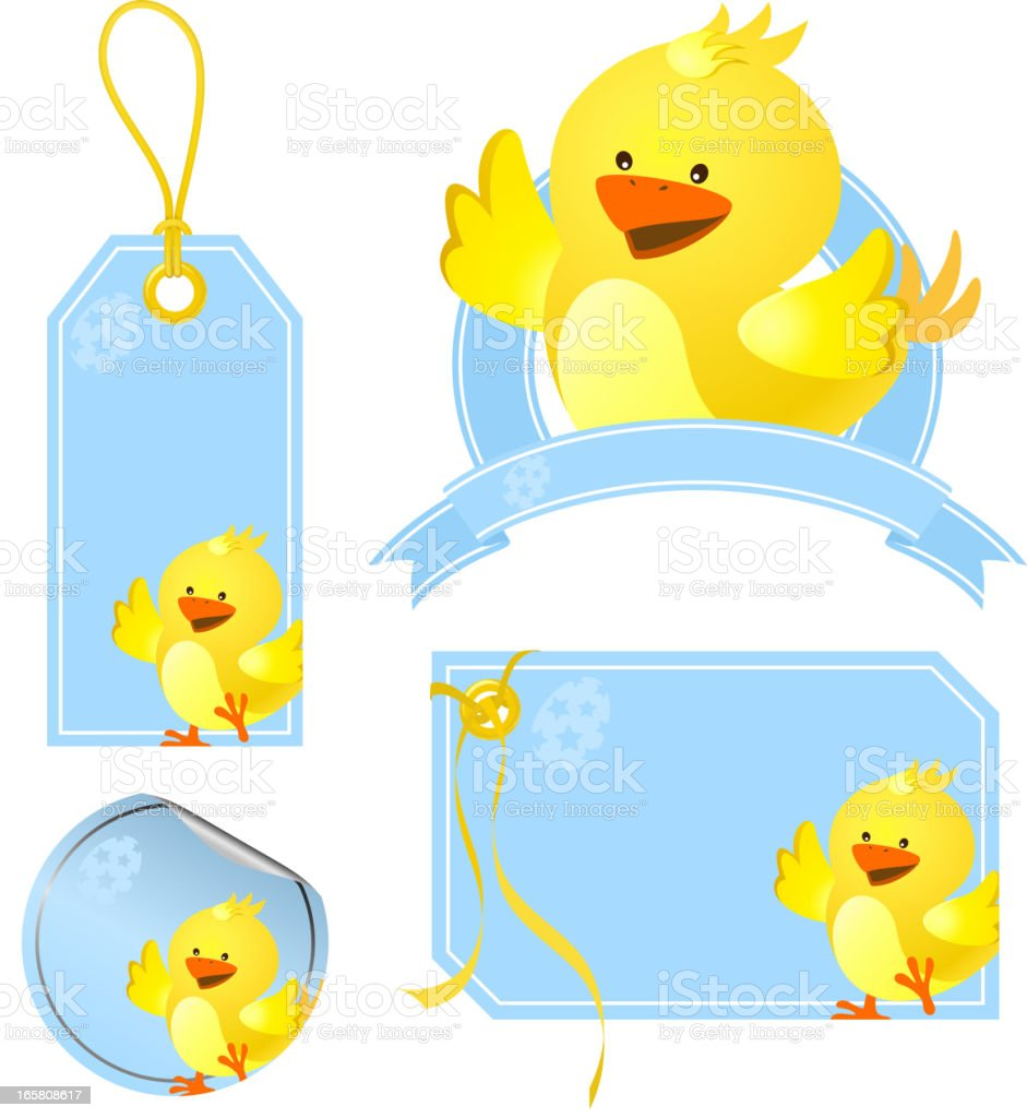 Easter Chick Price Tags royalty-free stock vector art