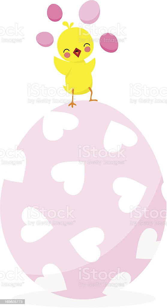 Easter chick vector art illustration