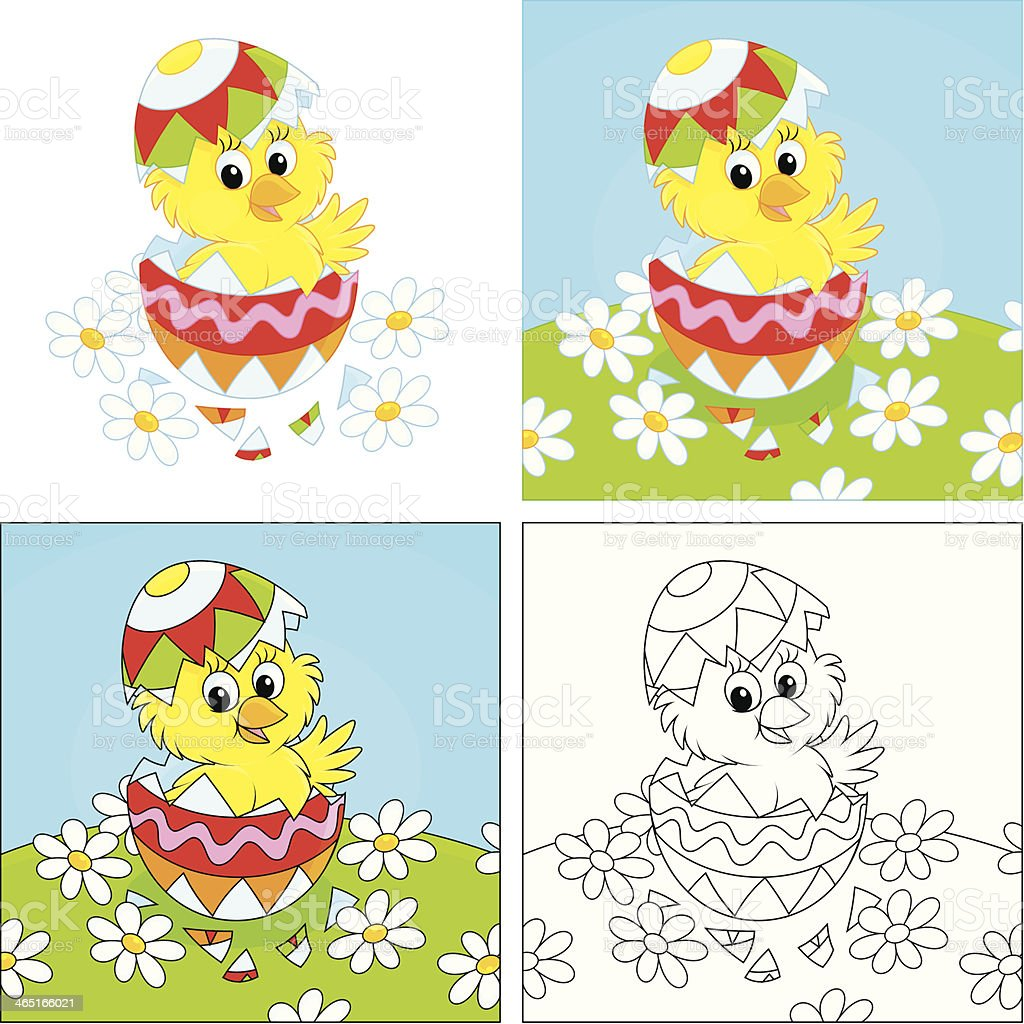 Easter Chick royalty-free stock vector art