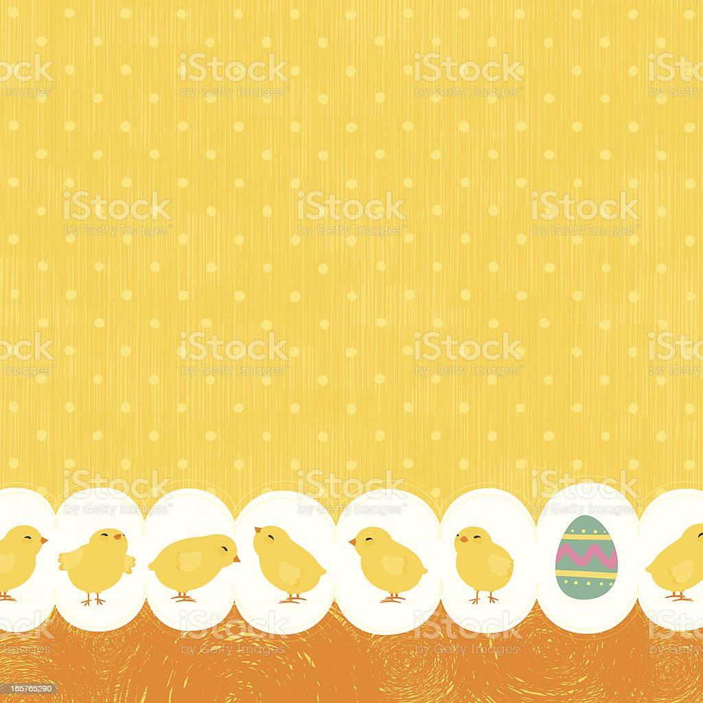 Easter chicks bakground royalty-free stock vector art