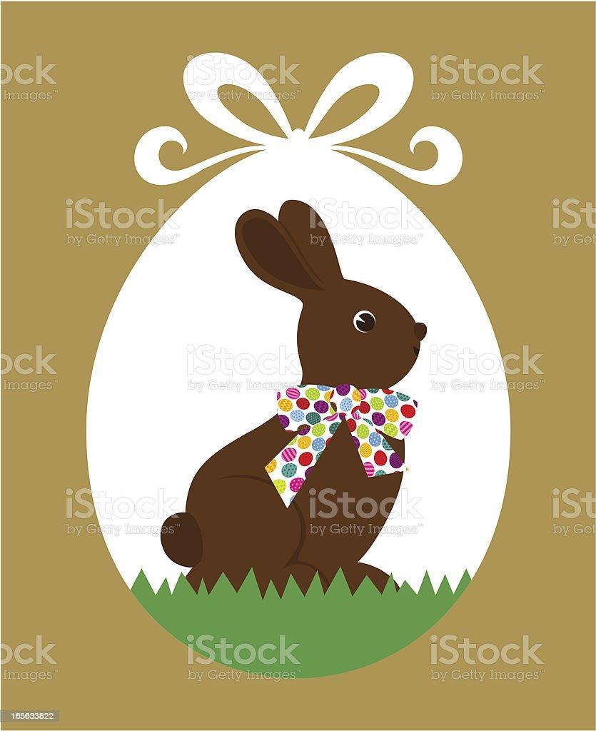 Easter chocolate rabbit vector art illustration