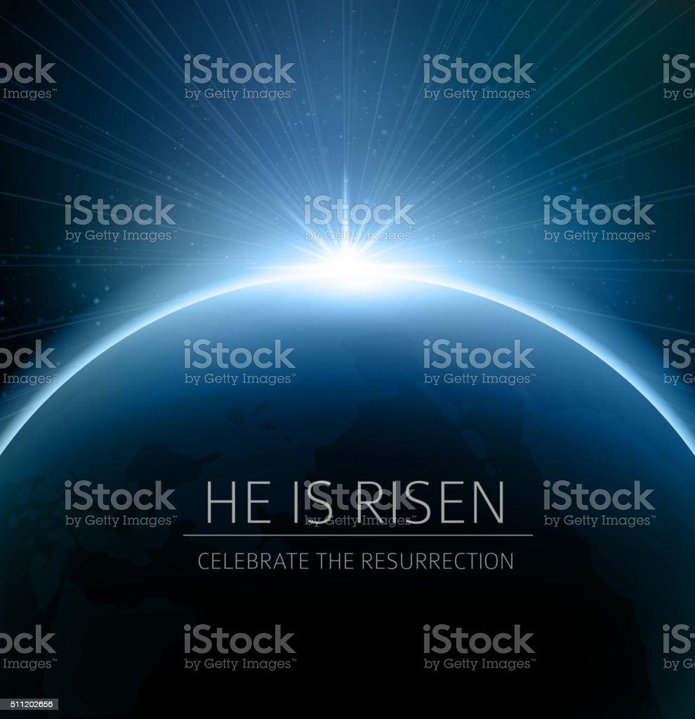 Easter christian background resurrection vector art illustration
