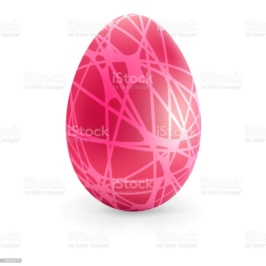 Easter color Egg with lines.  + EPS8 royalty-free stock vector art